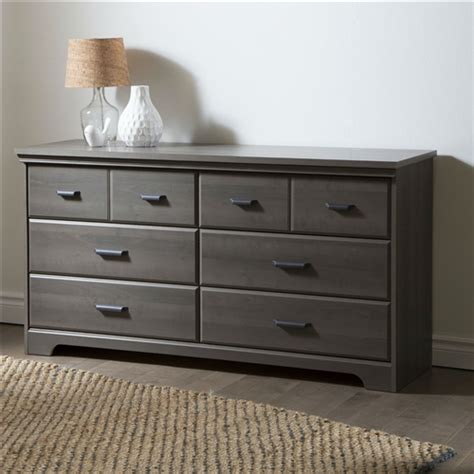 maple bedroom drawers bedroom 6 drawer double dresser wardrobe cabinet in grey