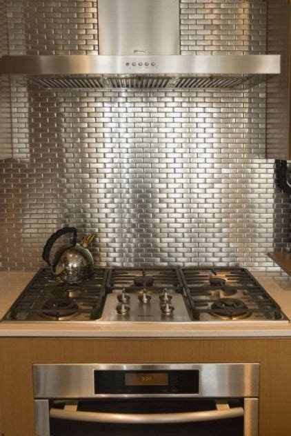 silver backsplash home goodies ideas