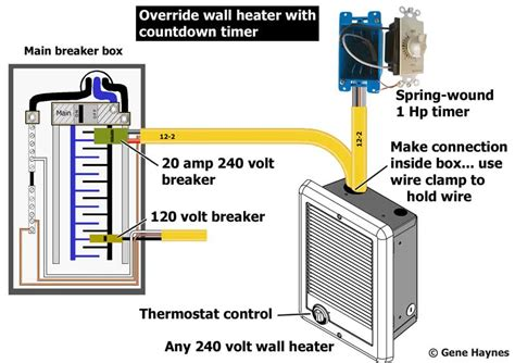 cadet baseboard heater wall thermostat wiring diagram