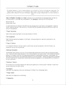 3 Professional Statement Of Work Templates Doc Templateinn Statement Of Work Template Doc