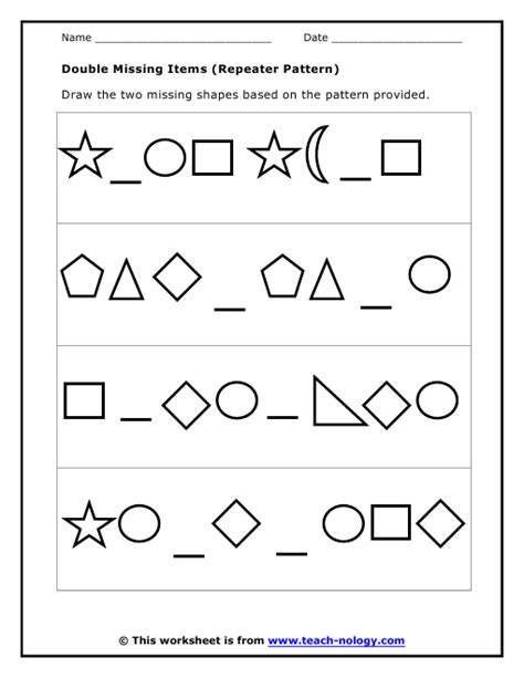 pattern math worksheets 1st grade 28 maths worksheets shapes patterns 11 best images