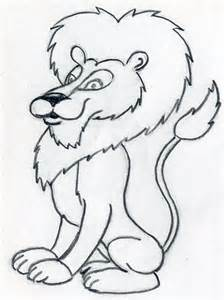 Easy lion drawings in pencil how to draw cartoon lion in few easy