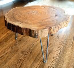 Glass Top Dining Room Table Bases - custom natural live edge round slab side table coffee table with steel legs by norsk valley