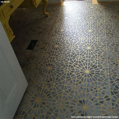 Decorative Floor Painting Ideas 25 Best Ideas About Moroccan Wall Stencils On Pinterest Moroccan Stencil Wall Stenciling And