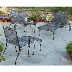 Wrought Iron Patio Furniture Woodard Briarwood Wrought Iron Patio Set