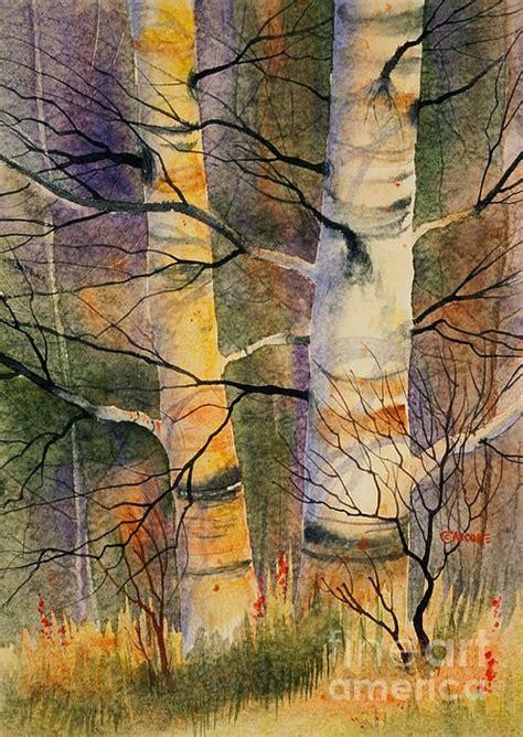 summer birch ii watercolor 20 x 28 on aquarius ii paper