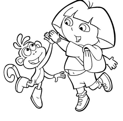 printable coloring pages dora and boots dora and boots coloring pages to download and print for free