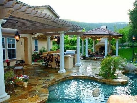 awesome backyards with pools amazing back yard misc cool pool pinterest