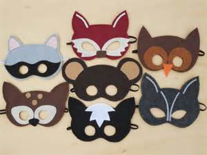 woodland animal masks template items similar to child size woodland masks as seen in