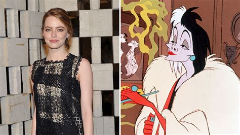 emma stone disney emma stone in talks to play cruella de vil for disney