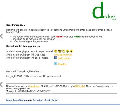 format email html gmail cara mengirim email gmail dengan format html