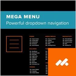 mega menu widget for adobe muse by musethemes adobe muse