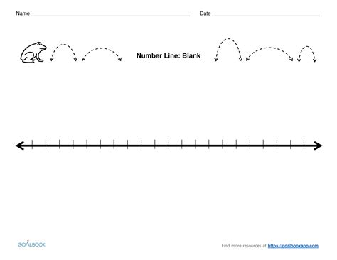 printable blank number line pdf number line udl strategies