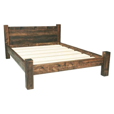 best 25 rustic bed frames ideas on diy bed