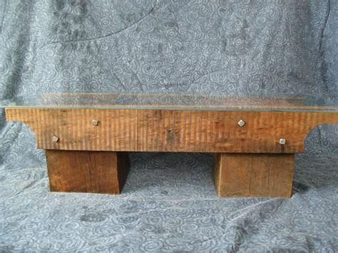 wood beam bench bench made of barn beam and reclaimed lumber reclaimed