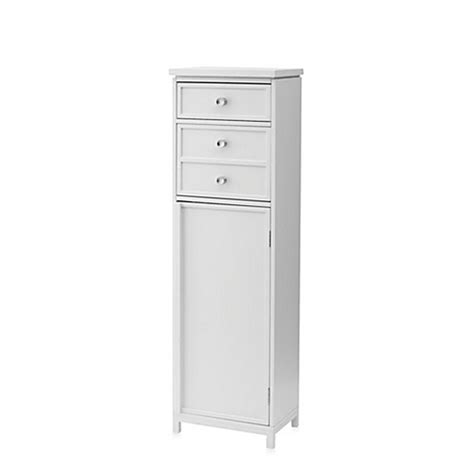 narrow drawers for bathroom real simple 174 tall narrow cabinet with two drawers