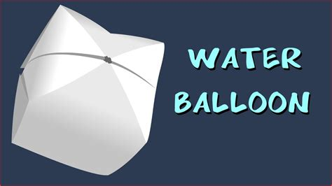 How To Make Paper Ballons - how to make a paper balloon water bomb origami by