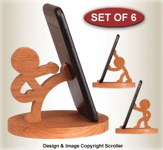 items character cell phone holders pattern set