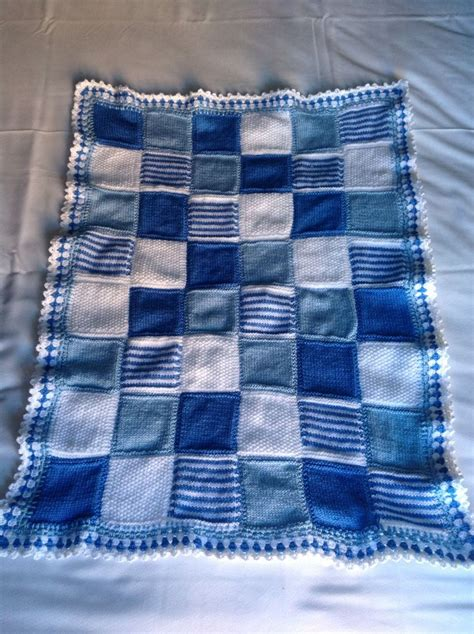 pattern knitting blanket squares baby blues knitted square blanket to do pinterest