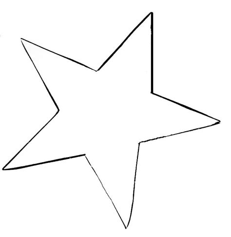 big star template printable clipart best
