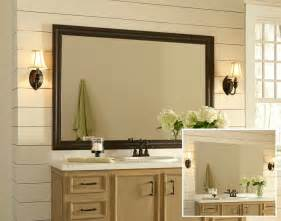 Framed Bathroom Mirrors Ideas pics photos framed bathroom mirror ideas on wall