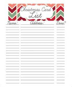Christmas Present List Template 27 Christmas Gift List Templates Free Printable Word