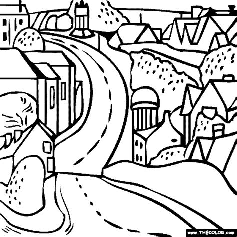 Famous Paintings Coloring Pages Page 2 Road Coloring Pages