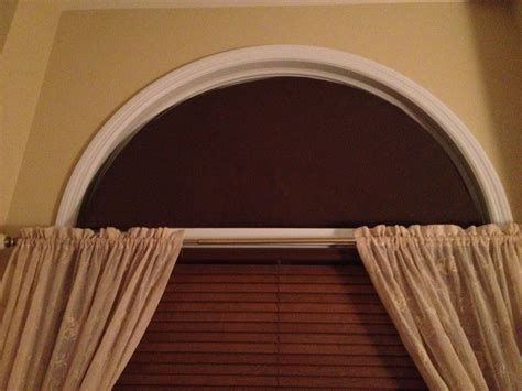 how to make arched window treatments home intuitive home made arch window covering to stop the sun from coming into the bedroom in the morning but