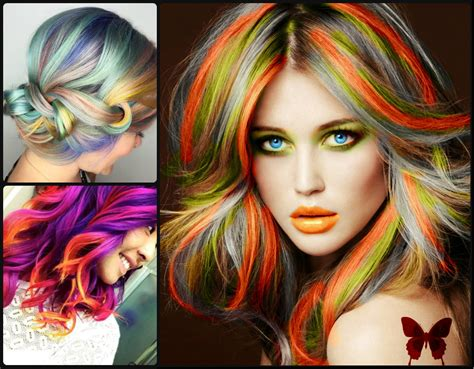 Hair Color Styles 2016 by Rainbow Hair Colors For Holidays 2016 Hairstyles 2017