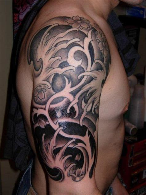 japanese wave tattoo shoulder japanese wave by burning monk