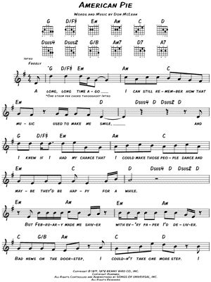 guitar tutorial american pie don mclean quot american pie quot sheet music download print