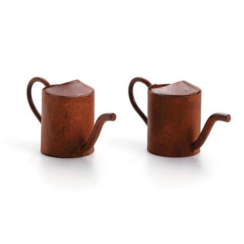 Mini Rect 2pc miniature mini rust rusted tin watering can 1 25 quot 2pc