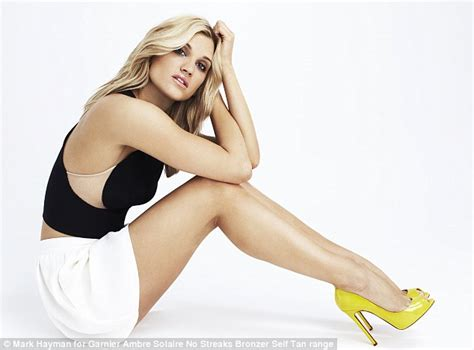ashley roberts face of new garnier tanning product