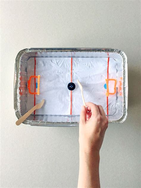 diy tabletop ice hockey rink handmade charlotte
