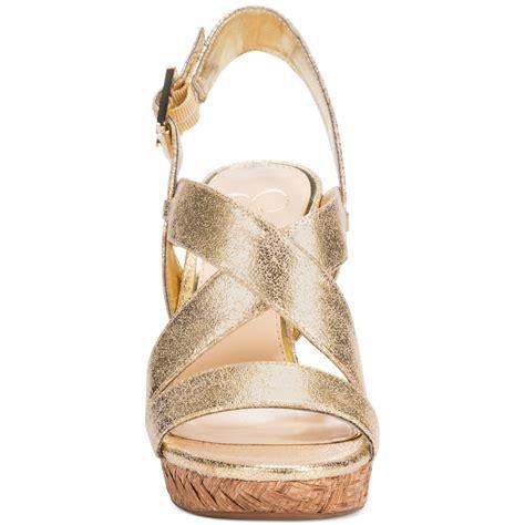 Wedges Selop Cv 05 Gold lyst jerrimo platform wedge sandals in metallic