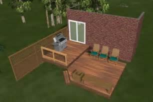 2 deck plans medium diy deck plans