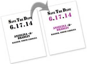 chevron save the dates that set tone for fun modern wedding