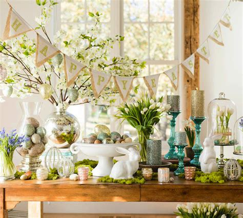 Easter Home Decor by Easter Holiday Spring Tablescape Dinner Party