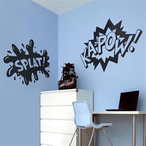 comic wall stickers comic words vinyl wall stickers by oakdene designs notonthehighstreet
