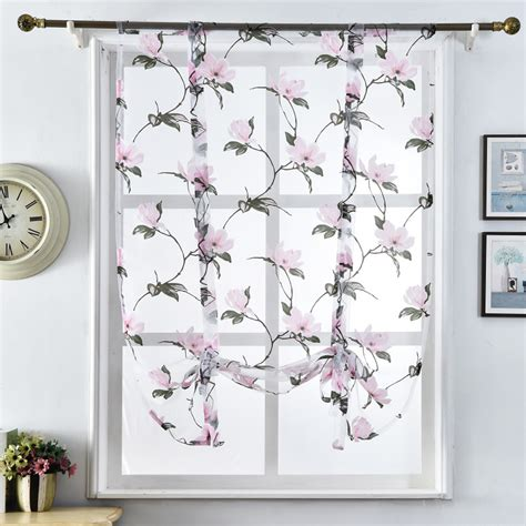 Fabric Kitchen Curtains Decor Tulle Fabrics Curtains Kitchen Curtains Blinds Floral Design Window Treatments