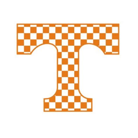 university of tennessee vols power t american by gdaykreations tennessee volunteers checkerboard power quot t quot 3 quot decal