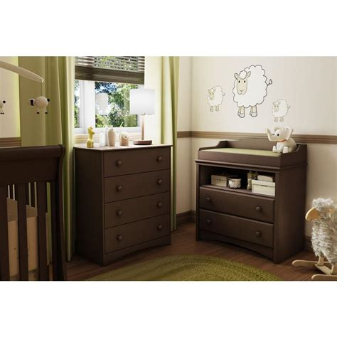 South Shore Changing Table Espresso South Shore 2 Drawer Espresso Changing Table 3559331 The Home Depot