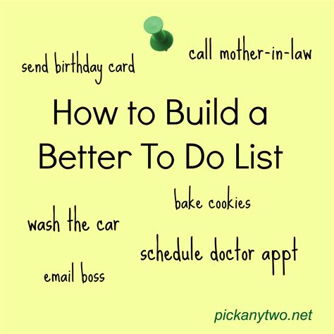 better to do list how to build a better to do list any two