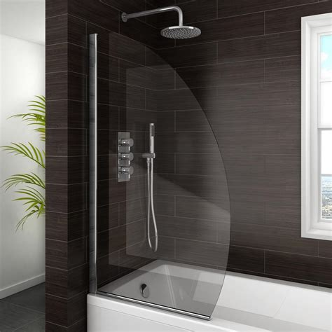 curved shower bath screen marina curved bath screen 800mm wide at