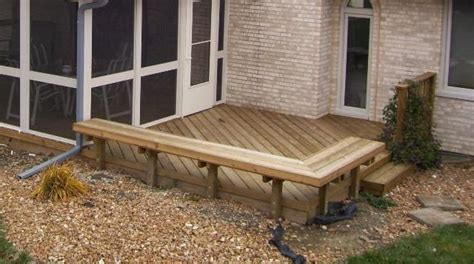 wood bench designs for decks 25 best images about decks on pinterest wood decks