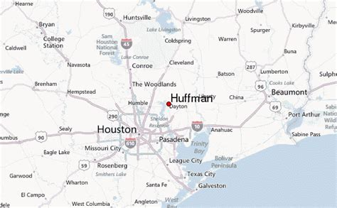 huffman texas map huffman texas weather forecast