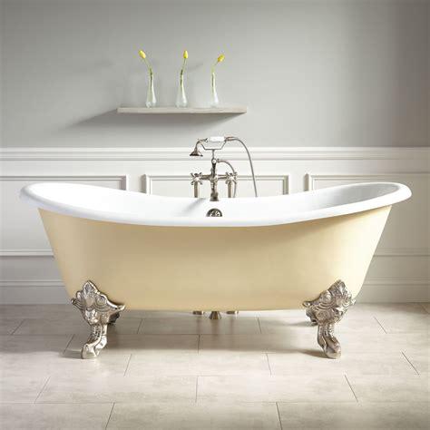 yellow clawfoot tub bathroom ideas pinterest 72 quot lena cast iron clawfoot tub monarch imperial feet