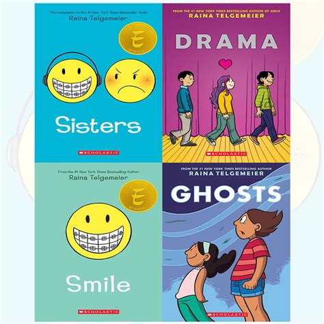 libro smile or get out raina telgemeier collection sisters 4 books set drama