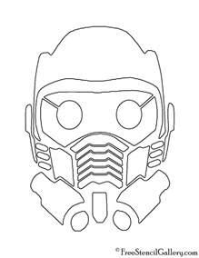 guardians galaxy star lord mask stencil free