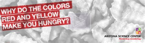 which colors make you hungry pin by arizona science center on never stop wondering